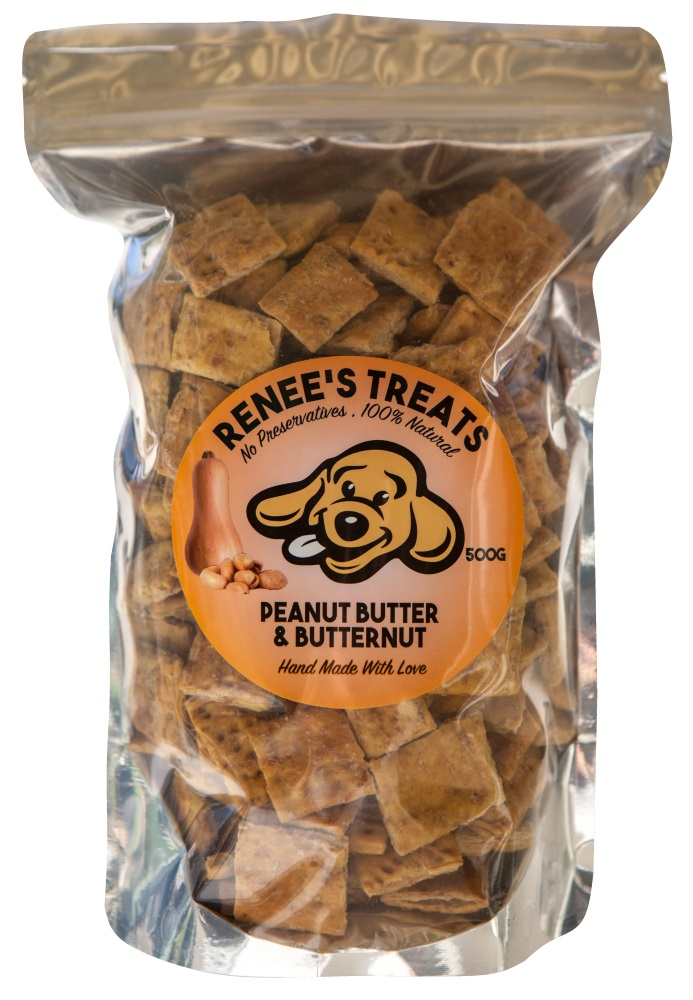 Renee's Treats with Peanut Butter & Butternut for dogs and cats